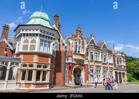 England, Buckinghamshire, Milton Keynes, Bletchley Park, The Mansion - Stock Photo