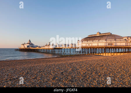 England, East Sussex, Eastbourne, Eastbourne Pier - Stock Photo
