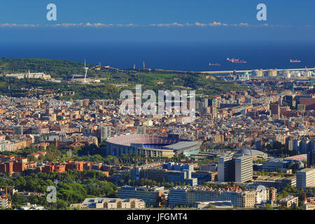 Spain, Catalunya, Barcelona City, Nou Camp Stadium - Stock Photo