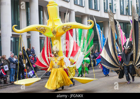 England, London, The Lord Mayor's Show, Parade Participants - Stock Photo