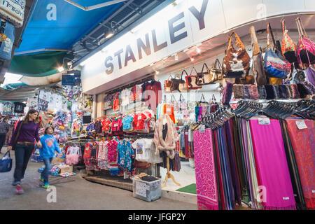 China, Hong Kong, Stanley Market - Stock Photo