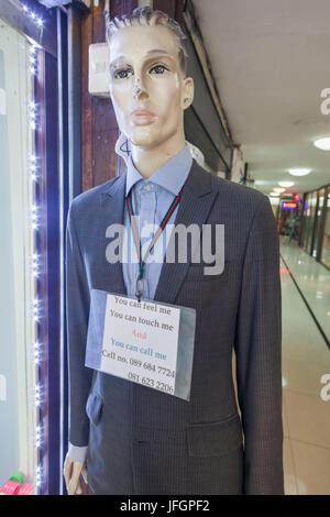 Thailand, Bangkok, Khaosan Road, Tailor's Shop Advertising Mannequin