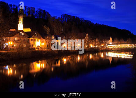 Germany, Bavaria, Upper Bavaria, Bavarian foothills of the Alps, Tölzer country, district to wolf council house - Stock Photo