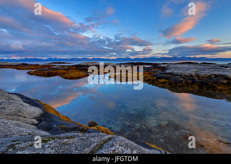 Europe, Norway, Nordnorwegen, province northern country, local authority district Hamaroy, place Tranoy, morning - Stock Photo