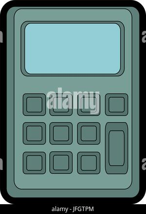 Illustration of Isolated Calculator Cartoon Drawing. Vector EPS 8 ...