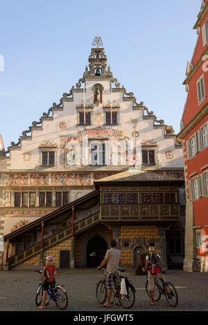 Old city hall, Old Town of Lindau, Lake of Constance, Bavarians, Germany - Stock Photo