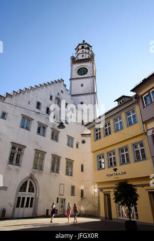 Old Town of Ravensburg, Blaserturm and Waaghaus, Baden-Wurttemberg, Germany - Stock Photo