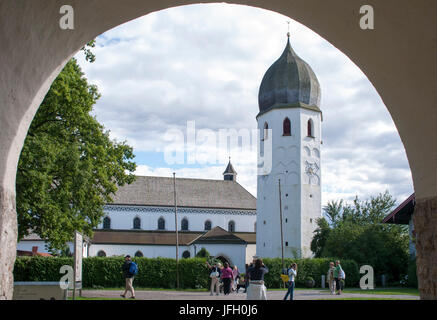 Minster, cathedral, Fraueninsel in Lake Chiemsee, cloister of Frauenwörth, Fraueninsel, Frauensee Chiemsee, Lake - Stock Photo