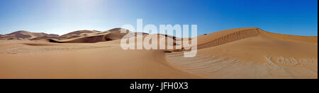 Dune area between Walvis Bay Swakopmund, coastal region Namibia, panorama - Stock Photo
