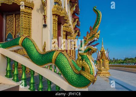 Wat Plai Laem Tempel in Ban Bo Phut, island Ko Samui, Thailand, Asia - Stock Photo