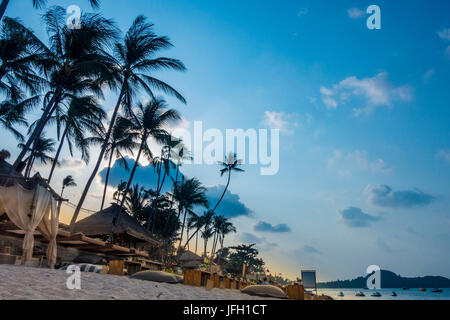 Beach Bar, Bo Phut Beach, island Ko Samui, Thailand, Asia - Stock Photo