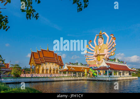God Lao Suwannaram temple in Ban Bo Phut, Ko Samui island, Thailand, Asia - Stock Photo