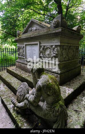 Tomb of Gideon Ernst von Laudon in the Viennese wood, Austria, Vienna, 14., Vienna - Stock Photo