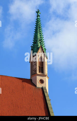 St John's Church is a Lutheran church in Riga the capital of Latvia.  The church dates back to 1297 when it served - Stock Photo