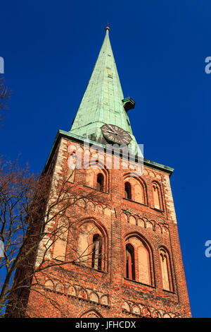St James's Cathedral is the Roman Catholic cathedral in Riga the capital of Latvia.  Construction of the cathedral - Stock Photo