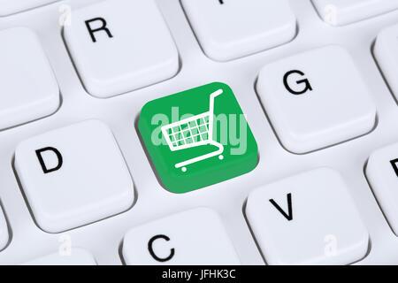 Online Shopping E-Commerce einkaufen im Internet - Stock Photo