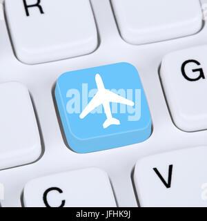 Internet Konzept Reisen und Urlaub online buchen E-Commerce einkaufen - Stock Photo