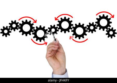 Businessman mit Businessplan Konzept für Erfolg, Team, Wachstum und Textfreiraum - Stock Photo