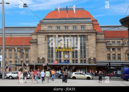 Leipzig central station promenades - Stock Photo