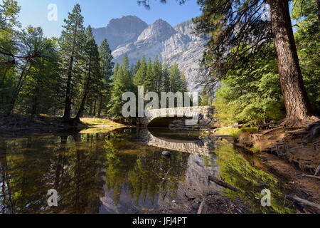 View in the Yosemite valley, the USA, California, Yosemite national park - Stock Photo