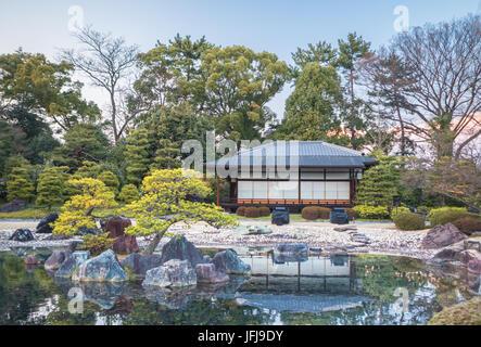 Japan, Kyoto City, Imperial castle gardens, tea house - Stock Photo
