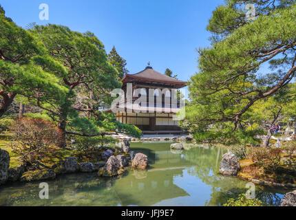 Japan, Kyoto City, Ginkaku-Ji Pavilion - Stock Photo