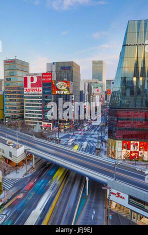 Japan, Tokyo City, Ginza area, Harumi Dori avenue - Stock Photo