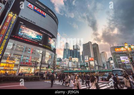 Japan, Tokyo City, Shinjuku district, Kabukicho, Shinjuku west side skyline - Stock Photo
