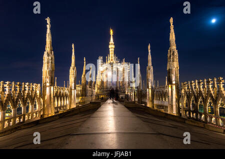 Milan - Italy On the roof of the Cathedral of Milan - Stock Photo