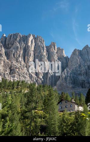 Sorapiss, Dolomites, Veneto, Italy, The refuges Vandelli - Stock Photo