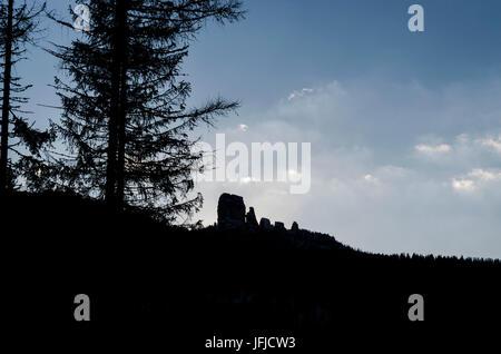 Cinque Torri, Cortina d'Ampezzo, Dolomiti, Dolomites, Veneto, Italy, Cinque Torri - Stock Photo