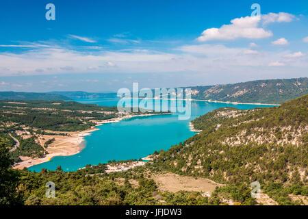 France, Alpes de Haute Provence, Parc Naturel Regional du Verdon (Natural Regional Park of Verdon), Sainte Croix - Stock Photo