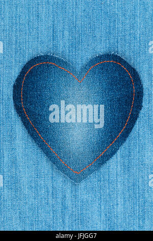 Frame label made denim of with space for text isolated for Space made of fabric