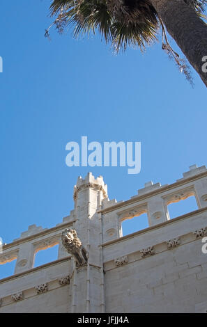Sa Llotja tower and blue sky on a sunny day in Palma, Mallorca, Spain. - Stock Photo