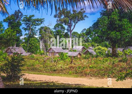 Small malagasy village - Stock Photo