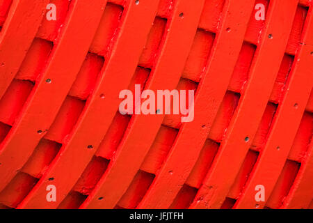 Pattern on the fishermen boat side - Stock Photo