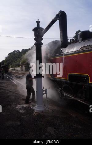 Steam Train,Cevennes,France - Stock Photo