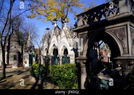 Cemetery Père-Lachaise,Paris,France - Stock Photo