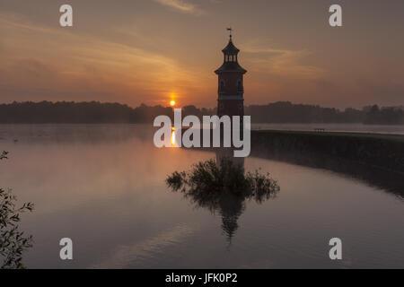 Moritzburg Lighthouse with jetty, saxony - Stock Photo