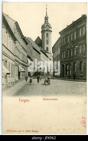 02198-Torgau-1901-Ritterstraße-Brück & Sohn Kunstverlag - Stock Photo