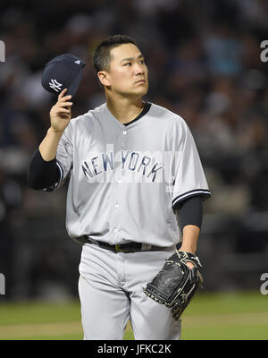 Chicago, Illinois, USA. 28th June, 2017. Masahiro Tanaka (Yankees) MLB : New York Yankees starting pitcher Masahiro - Stock Photo