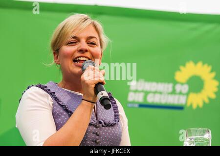 Tutzing, Bayern, Germany. 1st July, 2017. Katharina Schulze of the Bavarian Landtag (Parliament). Green politician - Stock Photo