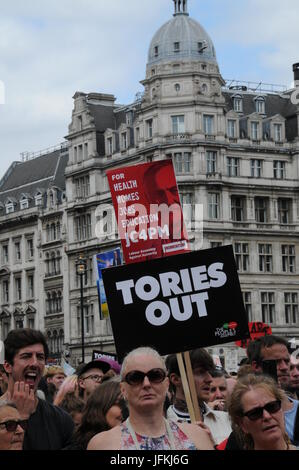 John McDonnell's Anti-Tory March in London. - Stock Photo