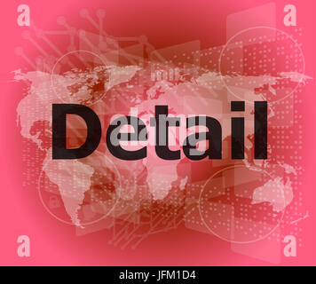 The word detail on digital screen, business concept - Stock Photo