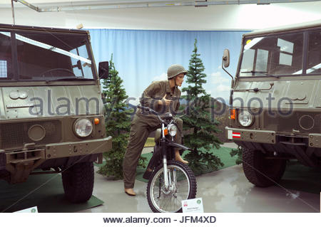 Puch Museum - military vehicles on display. Judenburg, in state of Styria, Austria. - Stock Photo