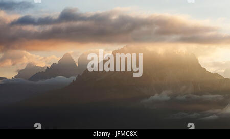 Cadini di Misurina, Dolomites, Auronzo di Cadore, Belluno, Italy, - Stock Photo