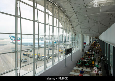 China, Hong Kong, Hong Kong Chek Lap Kok International Airport - Stock Photo