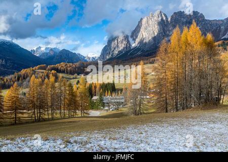 Passo Tre Croci, Cortina D'Ampezzo, Province of Belluno, region of Veneto, Italy, Europe. - Stock Photo