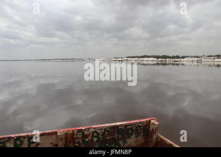 Lake Retba, Pink Lake, Lac Rose, Outside Dakar, Senegal - Stock Photo