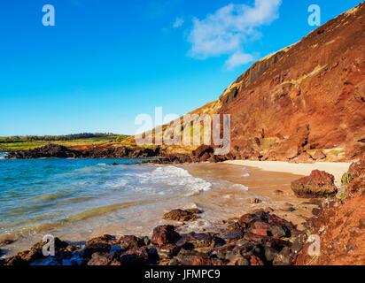 Ovahe Beach, Easter Island, Chile - Stock Photo